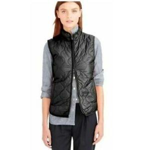 J. Crew Women's Black Layering Vest With Primaloft